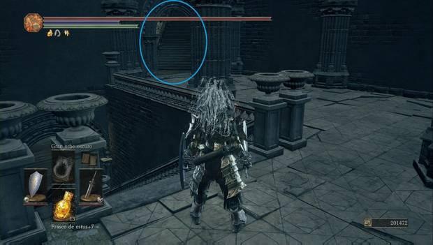 Dark Souls 3 - Gran Archivo: escaleras por las que seguir subiendo por la biblioteca