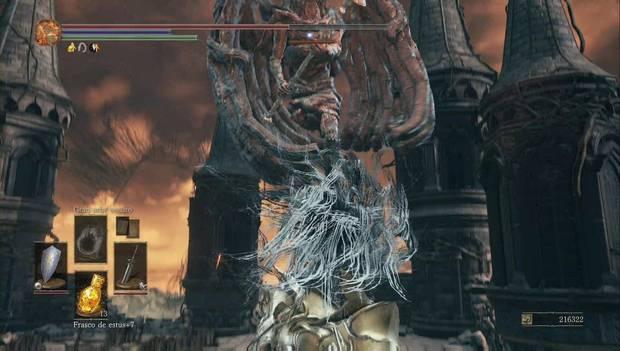 Dark Souls 3 - Gran Archivo: una gárgola nos tiende una emboscada en el tejado