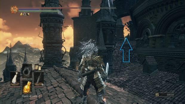 Dark Souls 3 - Gran Archivo: tejadillo por el que seguir subiendo