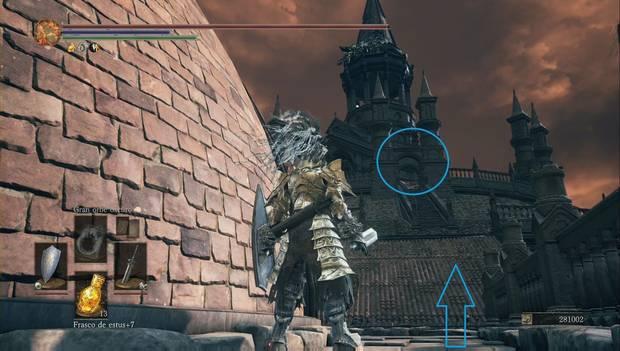 Dark Souls 3 - Gran Archivo: tejado por el que subir hasta la torre de los ángeles