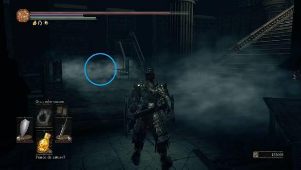 Dark Souls 3 - Gran Archivo: palanca oculta entre la oscuridad