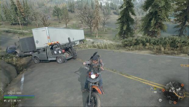Days Gone - Gasolina en una grúa