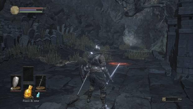 Dark Souls 3 - Cementerio de ceniza: Camino al lagarto brillante gigante
