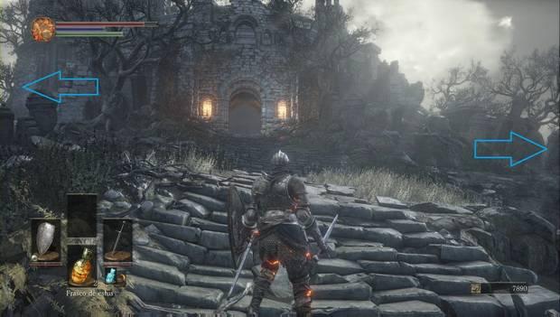 Dark Souls 3 - Cementerio de ceniza: desvíos antes de entrar al Santuario de Enlace del Fuego