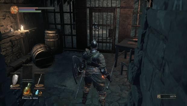 Dark Souls III - Gran Muro de Lothric: celda de la torre del muro