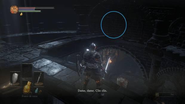 Dark Souls III - Gran Muro de Lothric: Pared falsa en las vigas del tejado