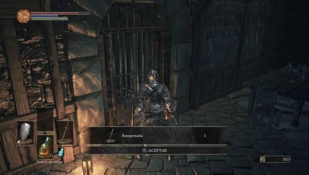 Dark Souls III - Gran muro de Lothric: daga rompemalla