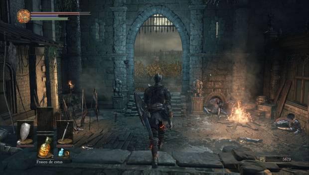 Dark Souls III - Gran Muro de Lothric: arco hacia los jardines del gran Muro