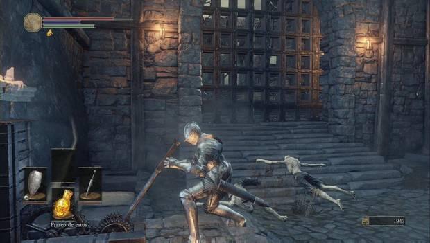 Dark Souls III - Asentamiento de no muertos: levanta el rastrillo para explorar el asentamiento