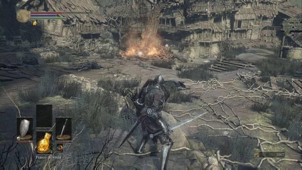 Dark Souls III - Asentamiento de no muertos: elimina a todos los enemigos alrededor de la hoguera