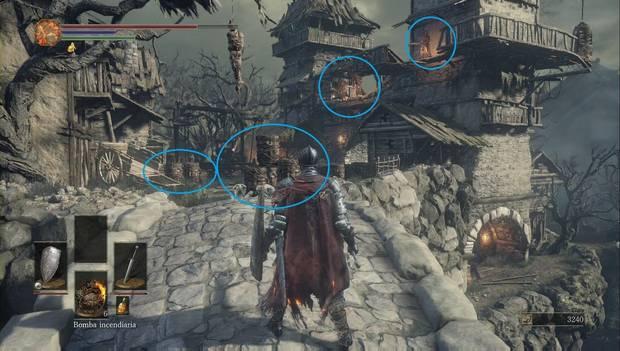 Dark Souls III - Asentamiento de no muertos: El puente de piedra es una trampa