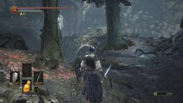 Dark Souls III - Camino de los Sacrificios: Los cuervos vigilan el segundo puente de piedra