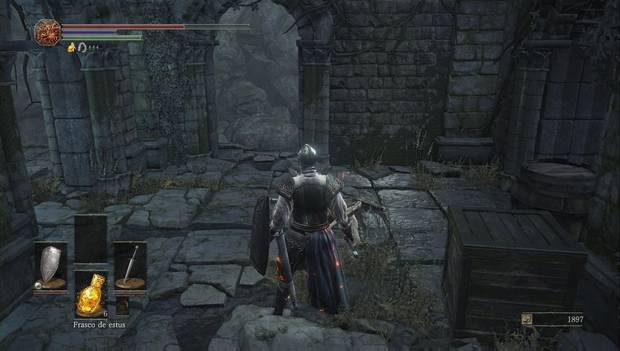 Dark Souls III - Camino de los Sacrificios: cruce de caminos en lo alto de las ruinas del pantano