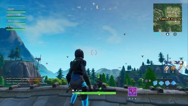Fortnite Battle Royale - Completa desafíos en Zonas Ardientes: Portabotines en Zonas Ardientes