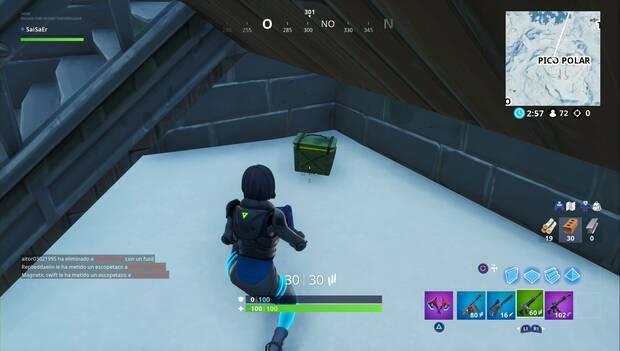 Fortnite Battle Royale - Registra cajas de munición en ubicaciones con nombre diferente: caja de munición