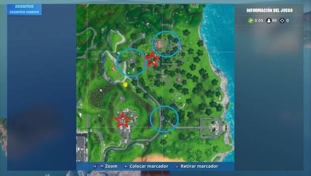 Fortnite Battle Royale - Mapa de hogueras y máquinas