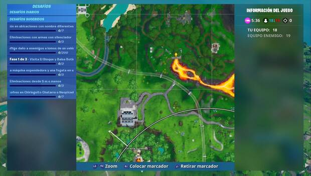 Fortnite - Localización del Fortbyte 12
