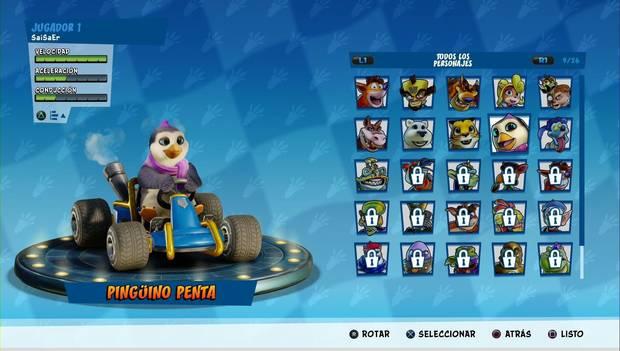 Crash Team Racing Nitro-Fueled: Pingüino Penta