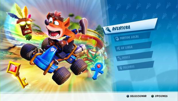 Crash Team Racing Nitro Fueled - Pantalla de carga para introducir el código