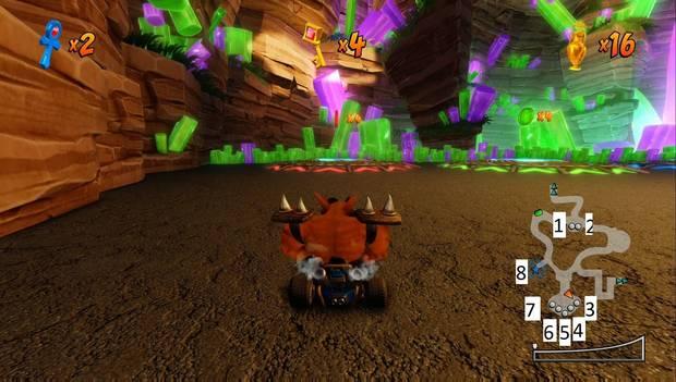 Crash Team Racing Nitro-Fueled: Mapa de Valle de las Gemas
