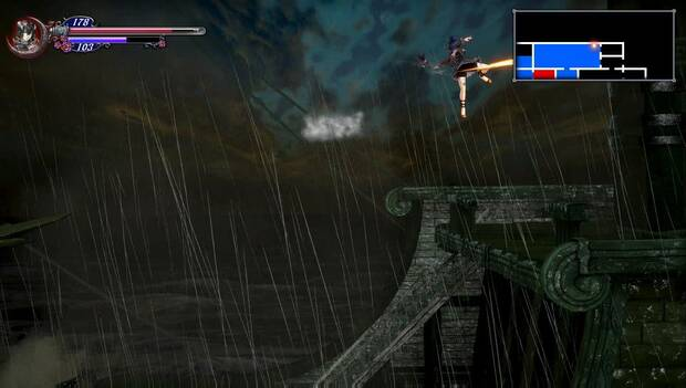 Bloodstained Ritual of the night - Patada voladora en el aire