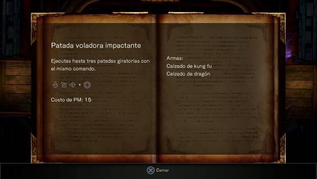 Bloodstained Ritual of the night - Galeón Minerva: técnica patada voladora impactante