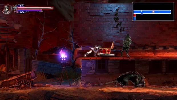 Bloodstained Ritual of the night - Arvantville: Rata gigante y Morte ósea