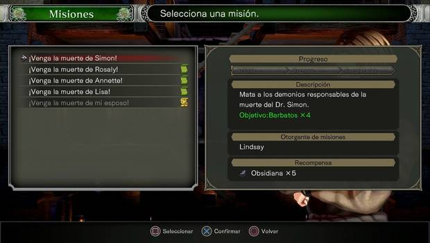 Bloodstained Ritual of the Night - Arvantville: misiones de Lindsay