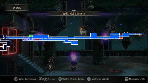 Bloodstained: Ritual of the night - Entrada: mapa al final de la zona