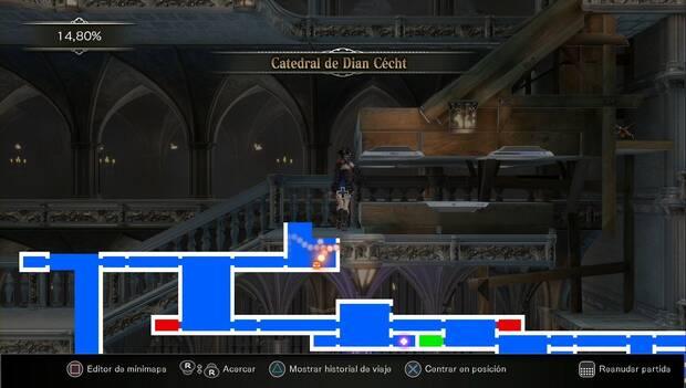 Bloodstained: Ritual of the night - Catedral de Dian Cécht: zona por la que no puedes pasar