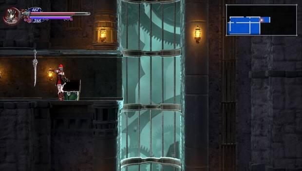 Bloodstained: Ritual of the night - Torre de los Dragones Gemelos: hueco del ascensor