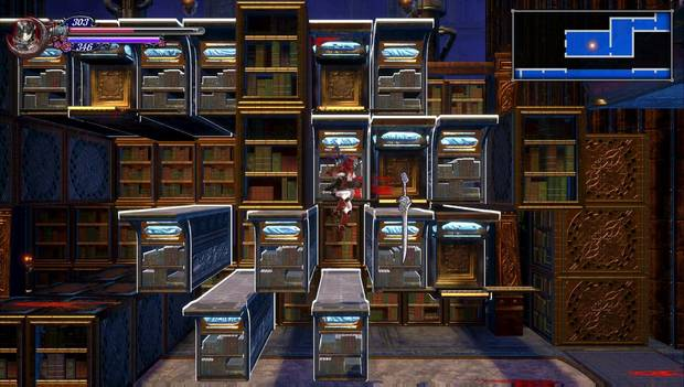 Bloodstained - Librarium Machinae: librerías sacadas