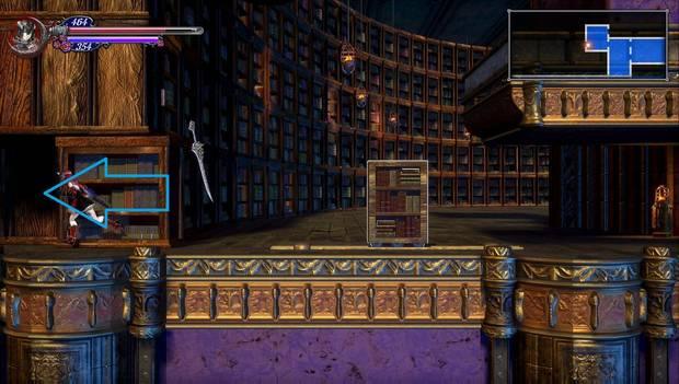 Bloodstained - Librarium Machinae: La librería se mueve