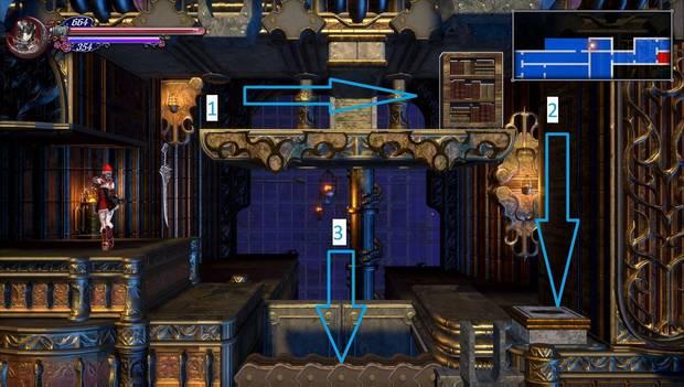 Bloodstained - Librarium Machinae: puzzle para abrir el atajo
