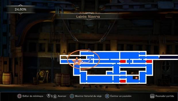 Bloodstained - Librarium Machinae: habitación del Galeón para usar el Doble salto