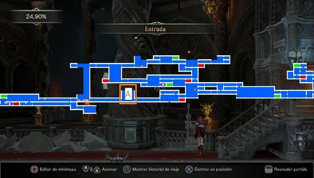Bloodstained - Librarium Machinae: mapa desbloqueado de Entrada