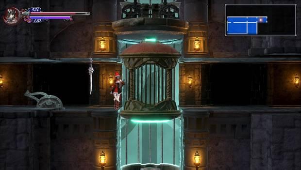 Bloodstained: Ritual o the night - Torreón de los dragones gemelos, segunda parte: ascensor de la torre