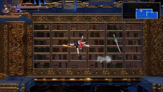 Bloodstained: Ritual of the night - Rayo reflector: usa la patada voladora para llegar a la plataforma