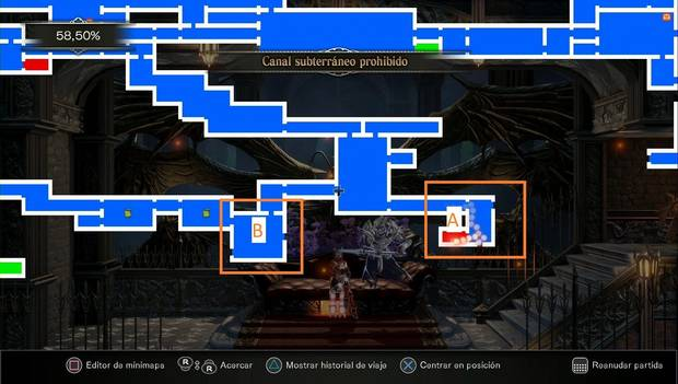 Bloodstained Ritual of the night - Canal subterráneo: imagen para situarte
