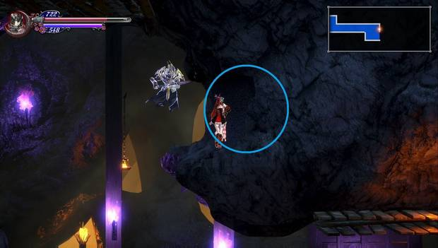 Bloodstained Ritual of the night - Canal subteráneo: pared rompible