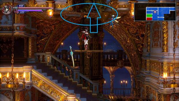 Bloodstained: Ritual of the night - Salón del Término: techo rompible