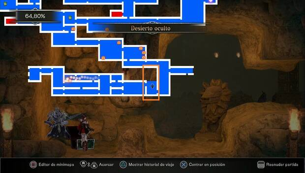 Bloodstained: Ritual of the night - Desierto oculto: siguiente sala a explorar