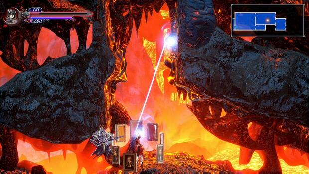Bloodstained: Ritaul of the night - Cueva infernal: salida inalcanzable