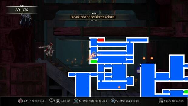 Bloodstained: Ritual of the night - Sala de la Puerta del Carpintero