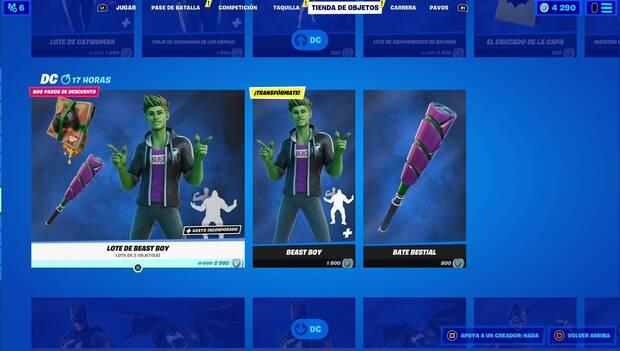 Fortnite - Daily Shop: Beast Boy Bundle