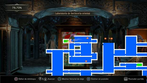 Bloodstained: Ritual of the night - Laboratorio de hechicería oscura: sala de la vidriera