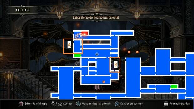 Bloodstained: Ritual of the night - Laboratorio de hechicería oriental: zonas sin explorar