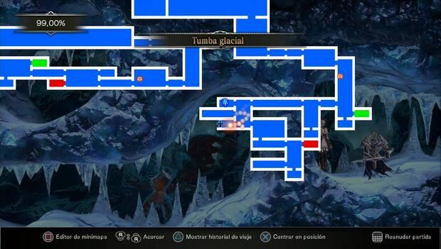 Bloodstained: Ritual of the night - Nuevo lugar a explorar en la Tumba Glacial