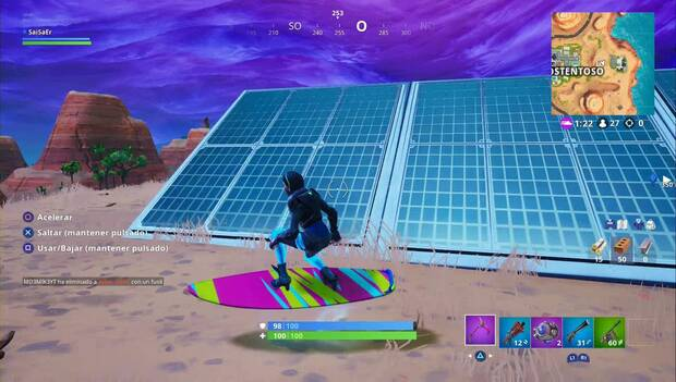 Fortnite - solar Panel in the desert