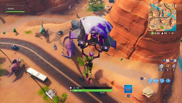Fortnite battle Royale - viaje por carretera: dinosaurio